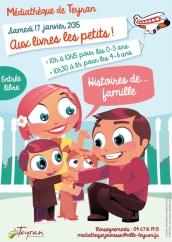 Aux livres les petits ! Histoires...de famille , Samedi 17 janvier 2015, médiathèque Teyran