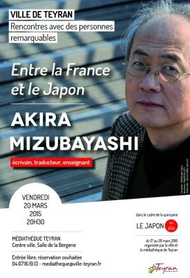Akira Mizubayashi, vendredi 20 mars 2015, Médiathèque Teyran