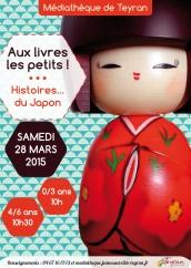 Aux livres les petits ! Histoires du Japon, Samedi 28 mars 2015, médiathèque Teyran