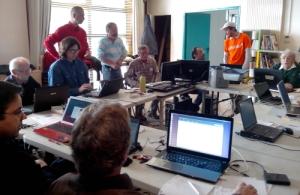 Linux et Windows7 cohabitent sur les postes de la médiathèque de Teyran