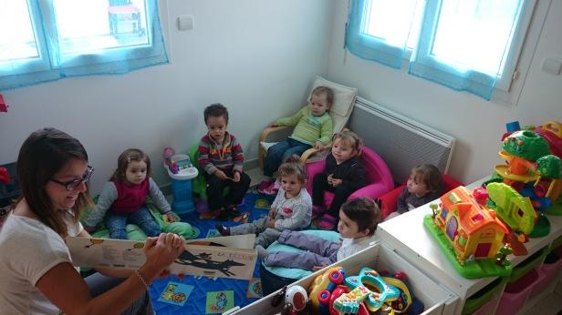 MAM, lecture avec les enfants de moins de 3 ans, médiathèque Teyran
