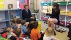 17 Mars 2015, lecture avec les assistantes maternelles, Médiathèque Teyran