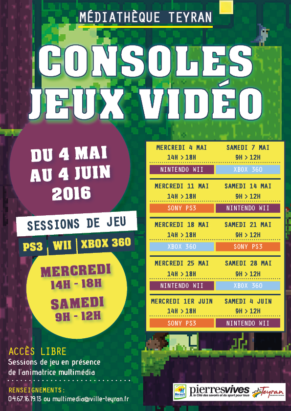 mediatheque teyran consoles jeux video