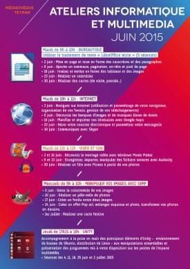 ateliers-multimedia-juin-2015, Médiathèque Teyran