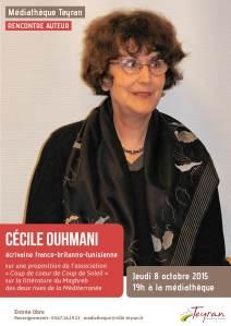 Rencontre avec Cécile Ouhmani, Médiathèque Teyran