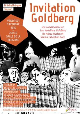 Invitation Goldberg, Théâtre à la médiathèque de Teyran