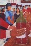 exposition de peintures de Mourad Gheziel, Médiathèque Teyran