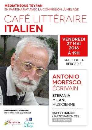 Cafe litteraire italien teyran