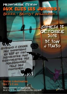 aux-clics-les-juniors-halloween-mediatheque-teyran