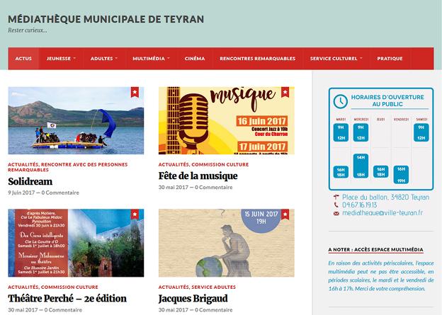 Blog de la Médiathèque Municipale de Teyran
